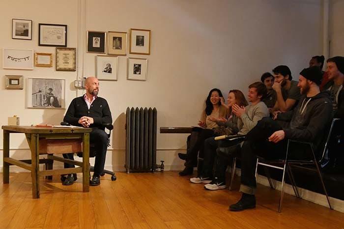 Charlie Sandlan teaching the local NYC acting classes