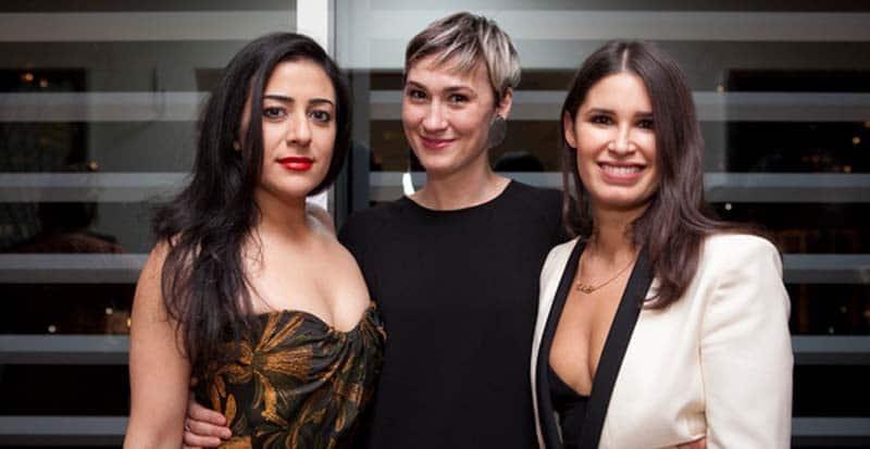 Nadine Malouf, Jessica Love, and Nicole Villamil at the broadway premiere of Queens