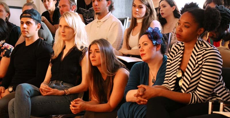these are students in acting class who have enrolled in the two year acting program