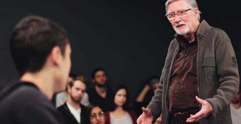 Bill Esper teaching students in calls remembered by Maggie Flanigan