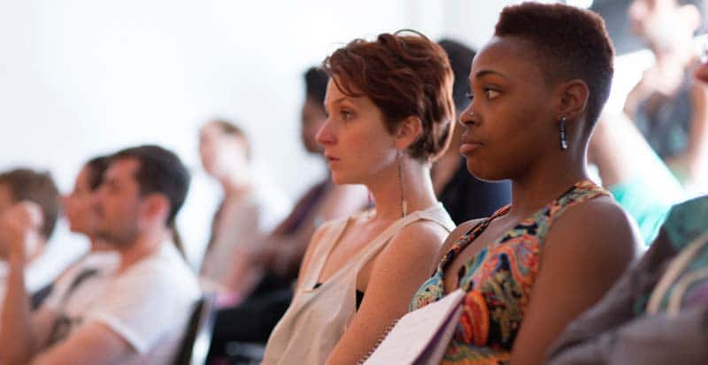 students in the summer program at Maggie Flanigan Studio sitting class