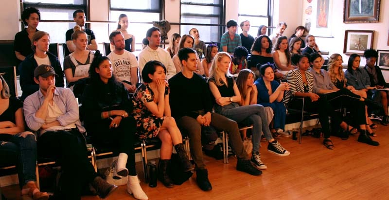 students in class for the two year meisner training program at the maggie flanigan studio