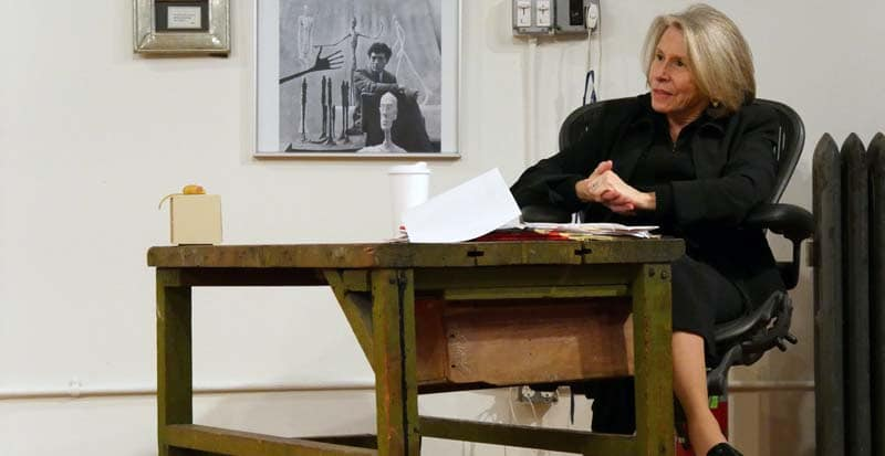 maggie flanigan in class with acting students. maggie offers private acting coaching