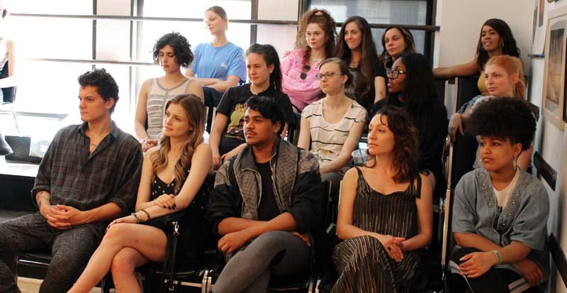 students in class at Maggie Flanigan Studio an acting studio in new york ny