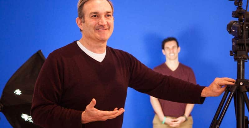 bill coleius with students in commercial acting class - acting teacher new york ny