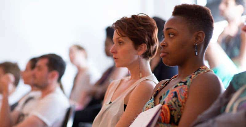 students in class during the Meisner Acting Only Program at Maggie Flanigan Studio