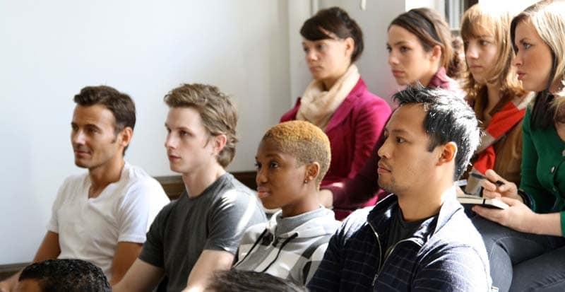 students in the Meisner acting program at Maggie Flanigan Studio