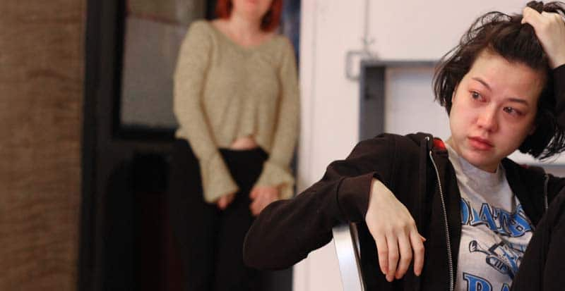 core acting program student during a Meisner acting class