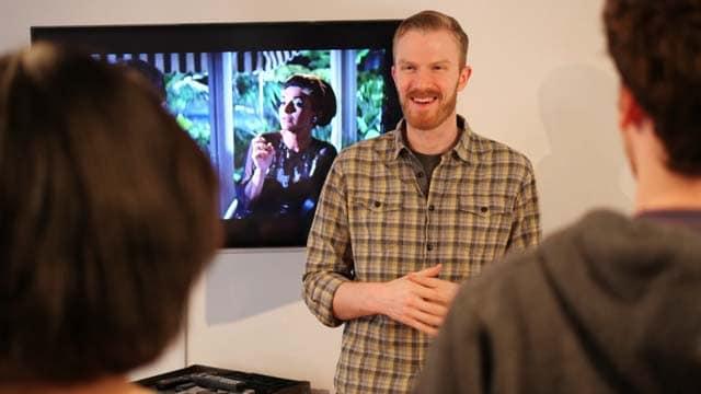 jeff richardson teaching film history class at maggie flanigan studio
