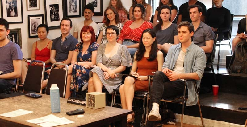 actors in the professional actor training program at the Maggie Flanigan Studio in New York