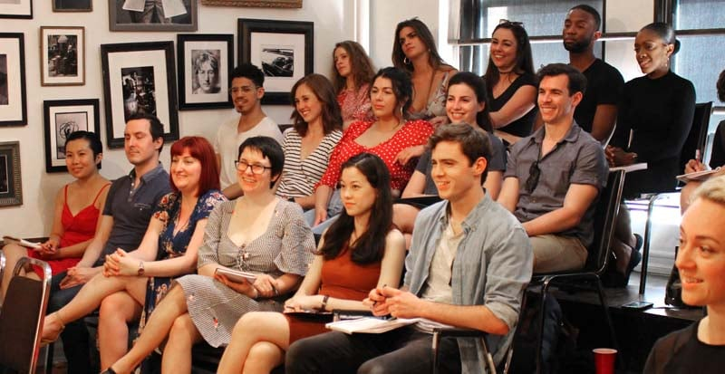 students in the two year acting program at maggie flanigan studio